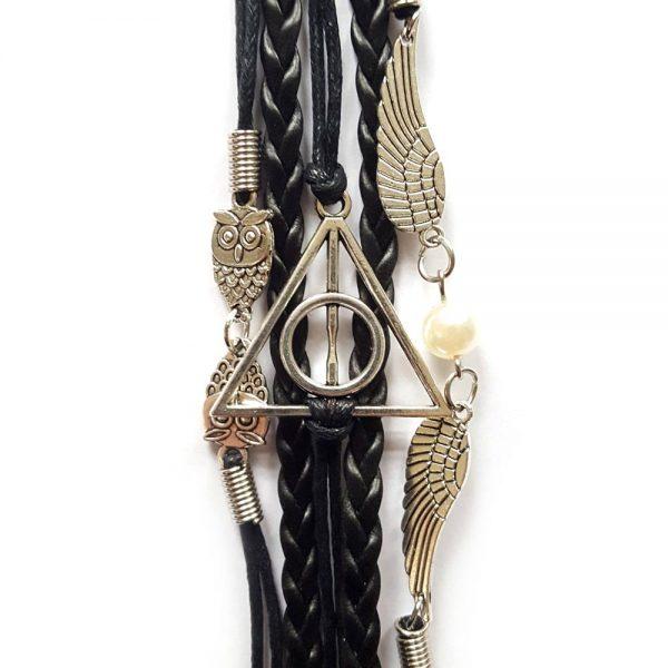 Deathly Hallows / Relieken van de Dood combi armband zwart