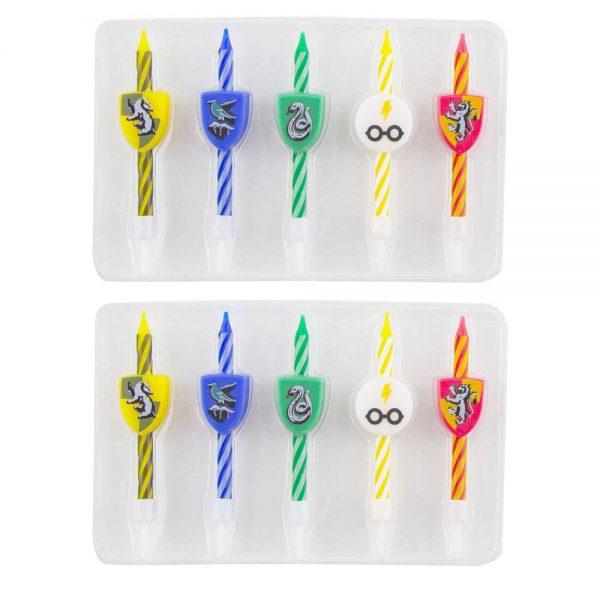 Harry Potter verjaardagskaarsen 2 x 5 stuks