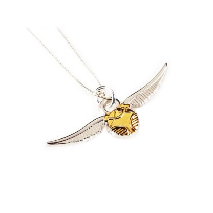 Gouden Snaai / snitch ketting (zilver plated)
