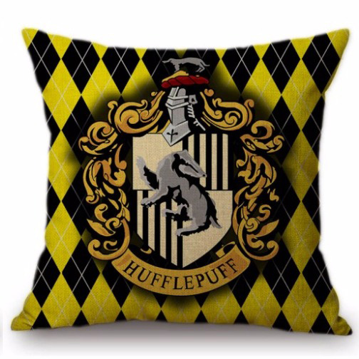 Harry Potter kussensloop Hufflepuff