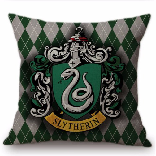 Harry Potter kussensloop Slytherin