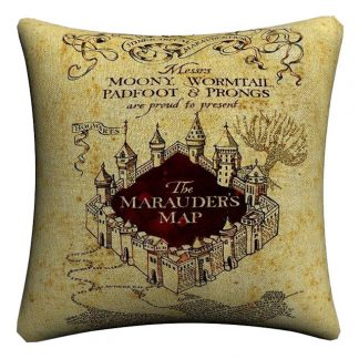 Harry Potter kussensloop Marauders Map