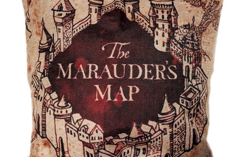 Harry Potter kussensloop Marauders Map