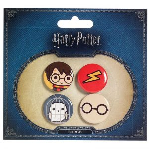Harry Potter & Hewdig Button 4-pack