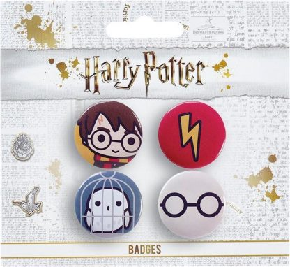 Harry Potter Hewdig Button 4-pack