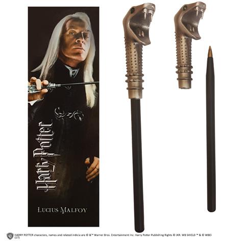 Lucius Malfoy toverstok pen en boekenlegger