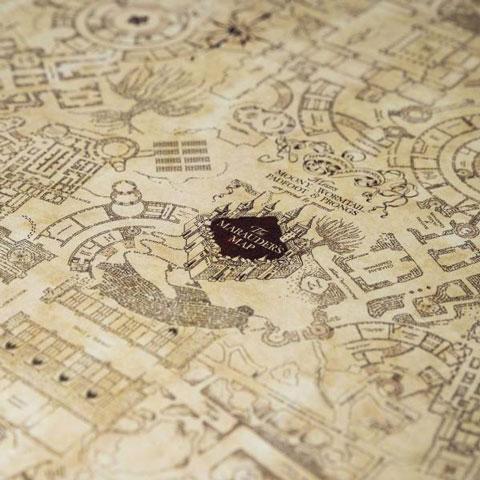 Harry Potter Cadeaupapier Marauder's Map