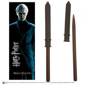 Draco Malfoy toverstok pen en boekenlegger