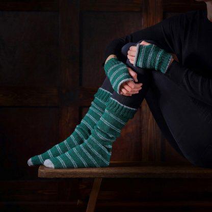 Harry Potter Slytherin Sokken en Handschoenen Brei set