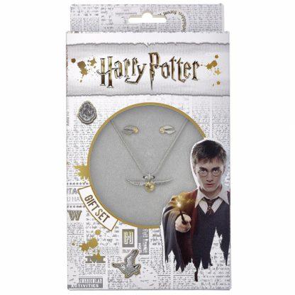 Harry Potter Gouden Snaai ketting en oorbellen