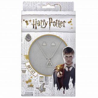Harry Potter Deathly Hallows ketting en oorbellen