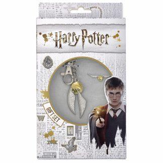 Harry Potter Gouden Snaai sleutelhanger en pin badge